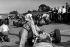 Graham Hill, pilote de course britannique. Circuit de Montlhéry (Essonne), 1965. © Roger-Viollet