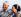 Nelson Mandela (ancien président de la République sud-africaine) et madame Graca Machel, veuve du président du Mozambique Samora Machel. Londres (Angleterre), aéroport d'Heathrow, 6 mai 2003. © TopFoto / Roger-Viollet