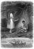 """Illustration for """"Les Natchez"""", by François-René de Chateaubriand. The friendship pact at the Natchez tribe. © Roger-Viollet"""