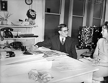 Yves Saint Laurent (1936-2008), French fashion designer, on March 14, 1958. © Roger-Viollet