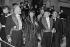 Edgar Faure, homme politique français, reçu à l'Académie Francaise, entouré de Maurice Druon (1918-2009), écrivain et homme politique français, Alice Saunier-Seité (1925-2003) et Jean-Pierre Soisson (né en 1934). Paris (VIème arr.), 1978. © Jacques Cuinières / Roger-Viollet
