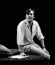 """Next Time I'll Sing To You"", play by James Saunders. Jean Rochefort. Paris, Théâtre Antoine, Septembre 1966. © Studio Lipnitzki/Roger-Viollet"