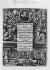 Frontispice d'un ouvrage sur l'art typographique, édité en 1639. Au centre : les portraits de Gutenberg et Jean Fust. En haut : un portrait de l'archevêque-électeur de Mayence. © Albert Harlingue / Roger-Viollet