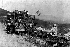 Baron de Crawhez' camping vehicle. Algeria, 1909. © Maurice-Louis Branger/Roger-Viollet