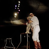 Arlette Gruss circus. Georges Kobane and the panther. 1991. © Kathleen Blumenfeld/Roger-Viollet