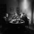 "Shooting of ""Un nommé La Rocca"", film by Jean Becker (1961), after a novel by José Giovanni (1958). Pierre Vaneck, Christine Kaufmann and Jean-Paul Belmondo. France-Italy, on April 26, 1961. © Alain Adler / Roger-Viollet"