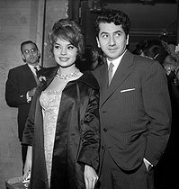 Pascale Petit and Daniel Gélin at Bobino. Paris, January 1959. © Studio Lipnitzki/Roger-Viollet