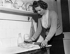 Margaret Roberts (future Margaret Thatcher), femme politique britannique. Grande-Bretagne, 1950. © TopFoto / Roger-Viollet