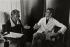 Madeleine Renaud (1900-1994), actrice française, avec Yves Saint Laurent (1936-2008), couturier français. Paris, 1965. © Jean Mounicq / Roger-Viollet