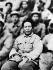 Mao Zedong (1893-1976), homme politique chinois, lors d'une causerie sur la littérature, à Yan'an (Shânxi), en mai 1942. © Roger-Viollet