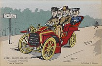 Visit of King Alfonso XIII of Spain (1886-1941). Franco-Spanish celebrations : paseo a Versailles. King Alfonso XIII, Emile Loubet (1838-1929), President of the French Republic, and Théophile Delcassé (1852-1923), French Foreign Secretary. Versailles (France), May 1905. Photograph by T. Bianco. Paris, bibliothèque de l'Hôtel de Ville. © T. Bianco / BHdV / Roger-Viollet