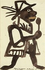 """Georges Rouault (1871-1958). """"Agent des moeurs"""". Encre de Chine sur papier, collage, 1918. Paris, musée d'Art moderne. © Musée d'Art Moderne/Roger-Viollet"""