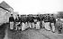 Firemen on exercises. The reel. Auneau (Eure-et-Loir).  © CAP/Roger-Viollet