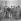 Victor M. Mangual (au centre avec le fusil), entouré d'hommes et de femmes révolutionnaires. De g. à dr. : un inconnu, Miguel Perez, Tete Puebla, Heriberto Ortega Lopez, Adabella Apointe, Victor M. Mangual, Isabel Rielo, Olga Guerara et Lillia Rielo.  La Havane (Cuba), janvier 1959.  © Saavedra/The Image Works/Roger-Viollet