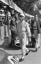 Stirling Moss. Grand Prix of Monaco, 1960. © Roger-Viollet