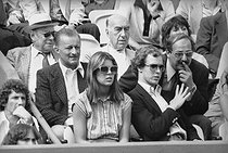 The princess Caroline of Monaco with her brother the prince Albert, Roland Garros. Paris, 1978. © Roger-Viollet