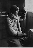 Arthur Koestler (1905-1983), écrivain et journaliste anglais, à bord du Graf Zeppelin  LZ 127. Expédition en Arctique, 1931.  © Ullstein Bild / Roger-Viollet