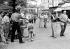 Painter from Montmartre at the place du Tertre. Paris (XVIIIth arrondissement), on August 4, 1954. © Roger-Viollet