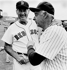 Ted Samuel Williams (1918-2002) et Joe DiMaggio (1914-1999), joueurs de base-ball américains. Fenway Park, Boston (Etats-Unis), 1986. Photo : Jim Mahoney. © Jim Mahoney / The Image Works / Roger-Viollet