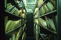 Room of the Stasi central archives. Archives can be consulted by Germans wanting to know who denounced them at the time of communism. Berlin (Germany), 1992. © Jean-Paul Guilloteau/Roger-Viollet
