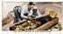 Le cercueil en or de Toutankhamon. La momie du pharaon demeuré à l'intérieur du plus secret des trois cercueils de forme humaine, inclus dans un sarcophage sculpté de quartzite jaune. Les deux cercueils externes sont couverts de feuilles d'or, la tête et les mains en or massif. Howard Carter (qui, avec le défunt comte de Carnarvon ont découvert le fameux tombeau en novembre 1922), ici, en plein travail sur le troisième cercueil.  lequel est en or massif.  © TopFoto/Roger-Viollet