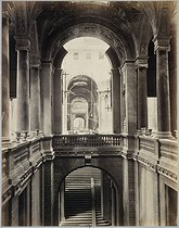"""French Commune (1871). """"Disasters of war: Paris city hall, the main staircase"""". Photograph by J. Andrieu. Paris, musée Carnavalet.  © Jules Andrieu/Musée Carnavalet/Roger-Viollet"""