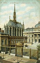 The Holy chapel and the law courts (Ist arrondissement). Former Paris. Postcard. © Neurdein/Roger-Viollet