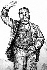 Jean Jaurès (1859-1914), homme politique français. Dessin par Charaire. © LAPI / Roger-Viollet
