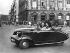 French small car M. A. Julien, 2 CV, model M.M.5 of 1947. Picture for an advertisement Aljanvic. France, September 1946. © Pierre Jahan/Roger-Viollet