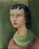 """Moïse Kisling (1891-1953). """"Tête de femme"""". Huile sur toile, vers 1950. Paris, musée d'Art moderne. © Musée d'Art Moderne/Roger-Viollet"""