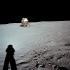 """Neil Armstrong (1930-2012), astronaute américain. Photographie du module lunaire """"Eagle"""" dans un paysage lunaire. Lune, 20 juillet 1969. © Ullstein Bild/Roger-Viollet"""