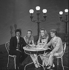 """Sacha Show"" television program. Sacha Distel, the Kessler sisters and Claude François. Paris, 1971. © Patrick Ullmann / Roger-Viollet"