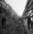 World War II. Liberation of Paris. Burned-out vehicle, near the Paris Opera. Paris (IXth arrondissement), on August 25, 1944. © Pierre Jahan/Roger-Viollet