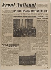 """Journal """"Front National"""" du 27 août 1944. Papier imprimé, 1944. Musée du Général Leclerc de Hauteclocque et de la Libération de Paris, musée Jean Moulin. © Mémorial Leclerc - Musée Jean Moulin/Roger-Viollet"""