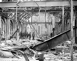Insurrection de Pâques 1916. Intérieur du bureau de poste de Sackville Street détruit lors des combats. Dublin (République d'Irlande), Sackville Street. © TopFoto / Roger-Viollet