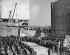 Inauguration du Siège de l'Organisation des Nations Unies (ONU). New York, le 24 octobre 1949. A la tribune : le président des Etats-Unis : Harry S. Truman. © TopFoto / Roger-Viollet