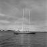 "Eric Tabarly (1931-1998), French sailor, aboard his boat ""Pen Duick III"". La Trinité-sur-Mer (France), 1968. © Jacques Cuinières / Roger-Viollet"