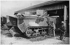 World War One. Washing a Saint-Chamond tank after trials. 1917. © Roger-Viollet