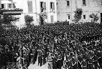 Spanish Civil War (1936-1939). Young Falangists enlisted in Burgos (Spain). © Roger-Viollet