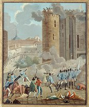 """Storming of the Bastille, on July 14, 1789"". Anonymous painting. Paris, musée Carnavalet. © Musée Carnavalet / Roger-Viollet"