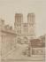 Façade de Notre-Dame, avant la construction de la flèche (1859-1860) projetée par Eugène-Emmanuel Viollet-le-Duc (1814-1879). Paris (IVème arr.). Paris, musée Carnavalet. © Musée Carnavalet / Roger-Viollet
