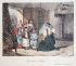 """Eugène Lami (1800-1890). """"La Vie de château - une visite au village"""", 1828-1833. Estampe. Paris, Maison de Balzac. © Maison de Balzac / Roger-Viollet"""