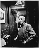 Otar Iosseliani (born in 1934), Georgian director, at home. Paris, January 1990. © Bruno de Monès / Roger-Viollet
