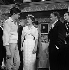 """""""Faibles Femmes"""", film de Michel Boisrond. Alain Delon, Pascale Petit et Pierre Mondy. France-Italie, 2 octobre 1958. © Alain Adler / Roger-Viollet"""
