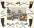 """Cobblers, bootmakers"", 1810. Print. Paris, musée Carnavalet. © Musée Carnavalet/Roger-Viollet"
