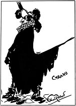 """Cyrano de Bergerac"". Drawing by Edmond Rostand. © Roger-Viollet"