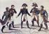 """""""Le jeu des quatre Coins ou Les cinq Frères"""". Représentation de Napoléon Bonaparte et ses frères, Joseph, Jérôme, Louis et Lucien. Gravure. Madrid (Espagne), musée d'histoire. © Iberfoto / Roger-Viollet"""
