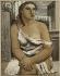 """Jean Souverbie (1891-1981). """"Portrait de femme"""". Huile sur toile, 1930. Paris, musée d'Art moderne. © Musée d'Art Moderne/Roger-Viollet"""
