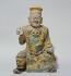 """""""Statuette de haut dignitaire de la maison impériale en porcelaine"""". Chine, XVème siècle. Paris, musée Cernuschi. © Musée Cernuschi/Roger-Viollet"""