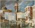 """Henri de Waroquier (1881-1970). """"Venise, Eglise San Geremia et le palais Labia, 1928"""". Paris, musée d'Art Moderne. © Musée d'Art Moderne/Roger-Viollet"""